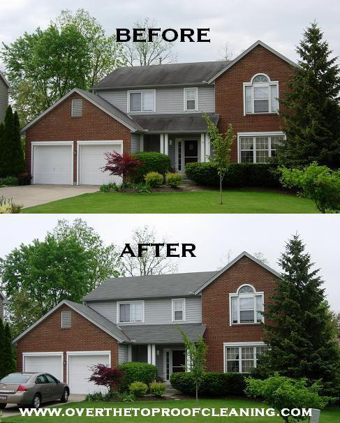 Roof Stain Removal Roof Cleaning In Cincinnati Oh
